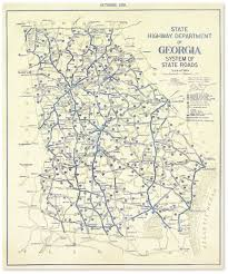 Georgia State Map Georgia 1929 Highway Map