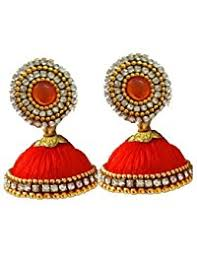 lotan earrings in orange earrings women jewellery