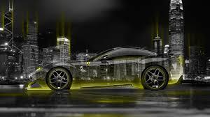 Ferrari F12 Yellow - ferrari f12 berlinetta side crystal city night car 2015 el tony