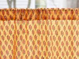Orange Kitchen Curtains Sale Orange Paisley Kitchen Curtain India Sari Print Kitchen Tier