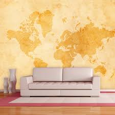World Map Wallpaper Mural by Vintage World Map Walplus Touch Of Modern