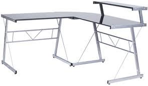 bureau angle verre noir bureau d angle design delo verre noir