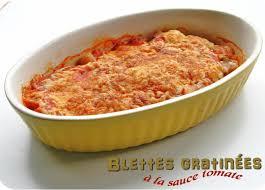 cuisiner blettes marmiton blettes gratinées à la sauce tomate cuisine et dépendances