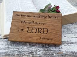 bible verse wood engraved plaque inspirational home decor