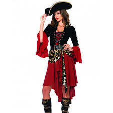 pirate captain costume for women with knee length skirt