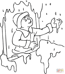 snow coloring page free printable coloring pages