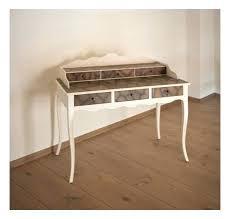 bureau console pas cher console bureau bois mobili table bureau console 2 tiroirs