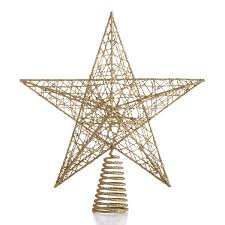 ideas bloomingdale s gold glitter tree topper for