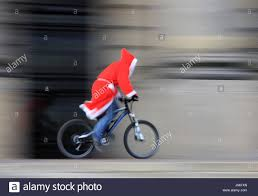 drive father christmas party celebration december ferries bike