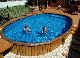 unique semi inground pools and their installation dark metallic