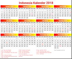 Gambar Kalender 2018 Lengkap 10 Desain Kalender 2018 Indonesia Lengkap Dengan Hari Libur