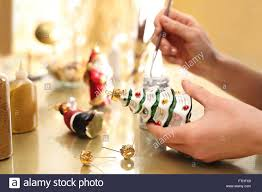 Paintings Of Christmas Ornaments Handmade Christmas Ornaments Decorating Painting Of Christmas