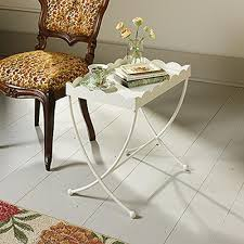 sauder coffee and end tables sauder eden rue cream metal end side table 419430 the home depot