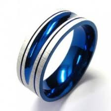 blue titanium wedding band titanium wedding bands blue titanium ring is a great choice for a