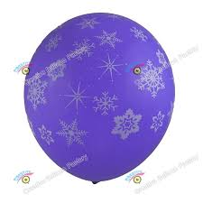 Snowflake Balloons 11 Inches Wholesale Navy Blue Snowflakes Non Latex Balloons