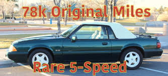 7 up edition mustang 1990 ford mustang 78 090 5 0 lx 7 up edition 5 speed 2700