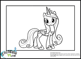 coloring my little pony princess cadence coloring pages inside