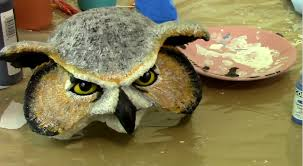 owl mask how to make an owl mask part 4 ultimate paper mache