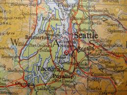 Seattle Wa Map by Map Of Seattle Washington Stock Photo Picture And Royalty Free