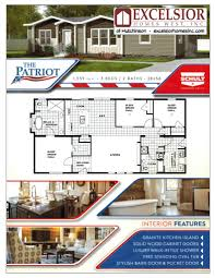 Modular Home Floor Plans California by Schult Patriot Manufactured Home Excelsior Homes