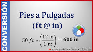 45 Feet To Meters by Convertir De Pies A Pulgadas Feet To Inch Youtube