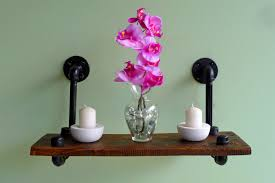 Reclaimed Wood Floating Shelves by Industrial Pipe And Reclaimed Wood Floating Shelf No 2