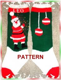 knit christmas santa and tree christmas knitting pattern