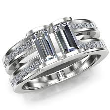 mens engagement ring men s engagement ring two diamond ring band