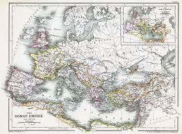 Roman World Map by Map Of The Roman Empire 350 Ce Illustration Ancient History