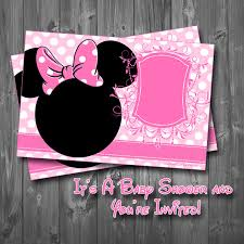 diy minnie mouse baby shower invitations 7691