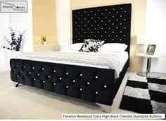 ella ottoman storage bed upholstered in chenille or crushed velvet
