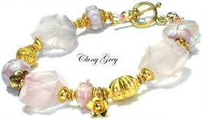 rose quartz gold bracelet images Rose quartz bracelets cluny grey jewelry jpg