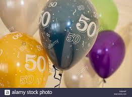 50th birthday balloons 50th birthday balloons stock photo 37756587 alamy