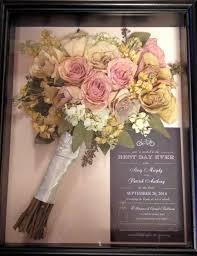 dried bridal bouquet in shadow box display wedding loves