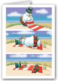 buy melting snowman tropical beach christmas holiday boxed