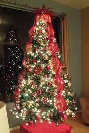 image result for tree ideas with wide ribbon