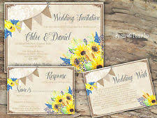 Sunflower Wedding Invitations Sunflower Wedding Ebay