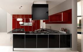 Red And Black Kitchen Cabinets by Black And Red Modern Kitchen Video And Photos Madlonsbigbear Com