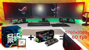 pubg 5760x1080 best gtx 1070 oc core i5 6600 triple monitor 5760x1080 youtube