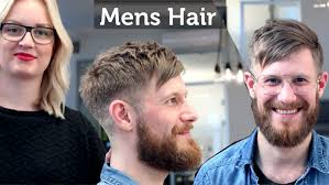 professional men u0027s haircut and hairstyle short hair with beard