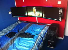 bedroom cool bedrooms for gamers dark hardwood decor floor lamps