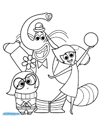 inside out cast coloring pages inside out coloring pages kolorowanki pinterest