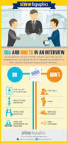 resume and interview tips dos and don ts in an interview infographics shine com