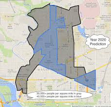 Washington Dc Area Map by Map Of High Density Residential Contiguous Area In Central Dc