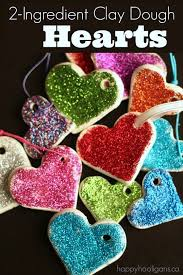 sparkling valentines ornaments happy hooligans white clay and