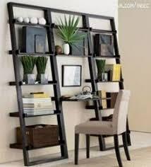 diy shelf leaning ladder wall bookshelf made from 1x boards desk