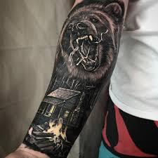 bear tattoo meaning and symbolism bear tattoos sleeve tattoo