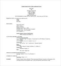college resume templates college application resume templates exles of resumes for