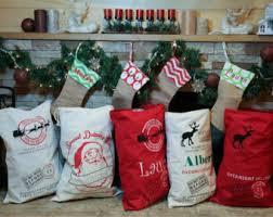 personalized santa sack custom santa sack etsy
