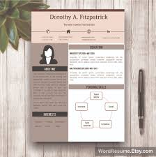 Creative Resume Templates Word Creative Cv Template With Cover Letter And References Word